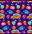 school colorful seamless pattern vector image vector image