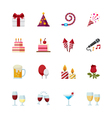 Party Icons and Celebration Icons vector image vector image