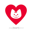I love my cat icon Isolated On White Background - vector image