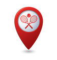 tennis2 REDpointer vector image vector image