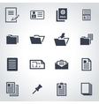 black document icon set vector image