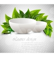 background with drinking bowl vector image vector image