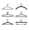 clothes hanger icons set vector image