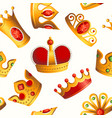 crowns pattern - seamless modern material design vector image