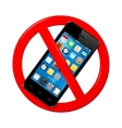 Do not use mobile phone sign vector image