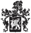 heraldic silhouette No11 vector image