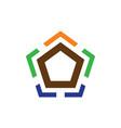 pentagon business finance logo vector image