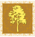 pine tree silhouettes vector image