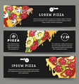 pizza flyers set vector image