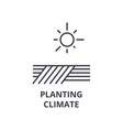 planting climate line icon outline sign linear vector image