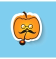 Pumpkin hipster round glasses and Smoking pipe vector image