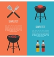 Barbecue grill vertical banners set vector image