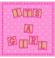 Its a girl card with cubs vector image vector image