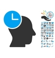 Time Thinking Icon With 2017 Year Bonus Pictograms vector image