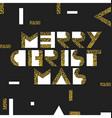 Merry Christmas Postcard Golden Gold Geometric vector image vector image