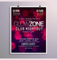 beautiful event flyer design with bokeh background vector image