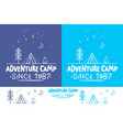 adventure camptrendy camping label hand drawn t vector image