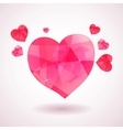 Pink geometric heart vector image vector image