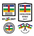 central african republic quality label set