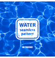 Water seamless pattern background vector image vector image