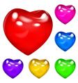 Opaque hearts vector image