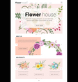 Floral website template banner and infographic 2 vector image