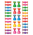 funny sweets candy vector image vector image