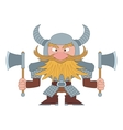 Dwarf warrior vector image