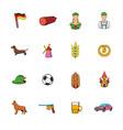 germany set icons set cartoon vector image