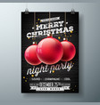 merry christmas night party vector image