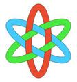 template logo rgb interlocking weave ellipses vector image