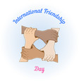 Holding hands in a circle vector image