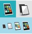 Tablet responsive flat ui design vector image