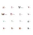 Set of universal company logo ideas business icon vector image