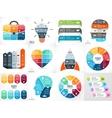 Creative arrows teamwork infographics vector image