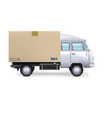 Delivery van Isolated on white vector image