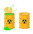 Barrel of acid open drums with dangerous gr vector image