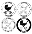 Baby friendly stamps black and white vector image
