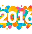 Happy New Year 2016 multicolor background for your vector image