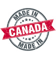 made in Canada red round vintage stamp vector image