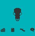 cow skull icon flat vector image