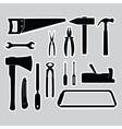 hand tools stickers set eps10 vector image