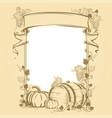 harvesting vintage frame vector image