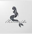 mermaid logo icon design vector image