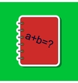 paper sticker on stylish background math book vector image