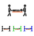 patient stretcher flat icon vector image