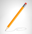 Pencil is drawing curve vector image