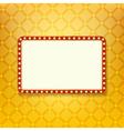 Retro golden frame vector image