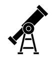 vision - telescope icon vector image
