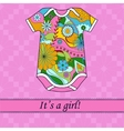 Its a girl card with ribbon and body vector image